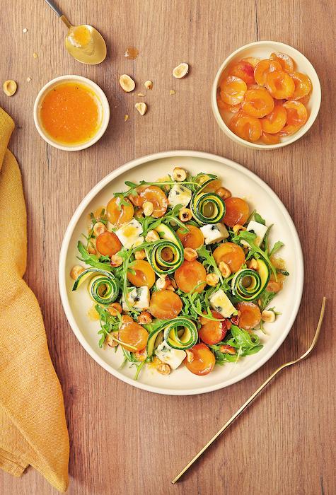 recette de Salade de mirabelles au roquefort