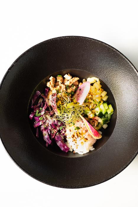 recette de Bowl au poulet mariné