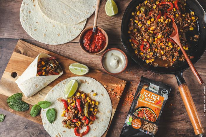recette de Fajitas veggies tex mex