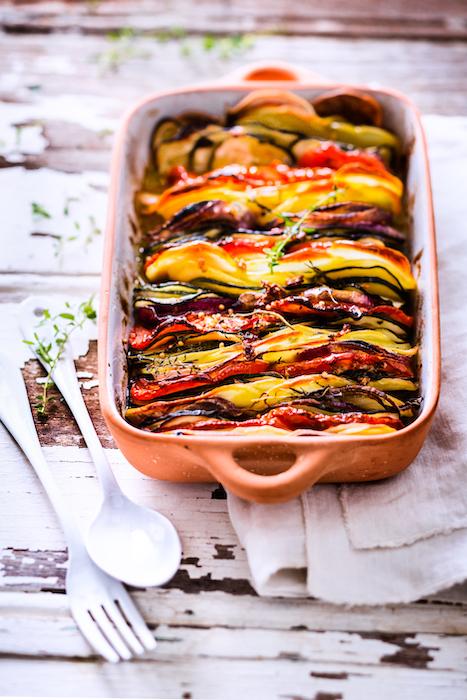 recette de Tian de pommes de terre et légumes