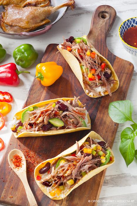 recette de Tacos Tex Mex au confit