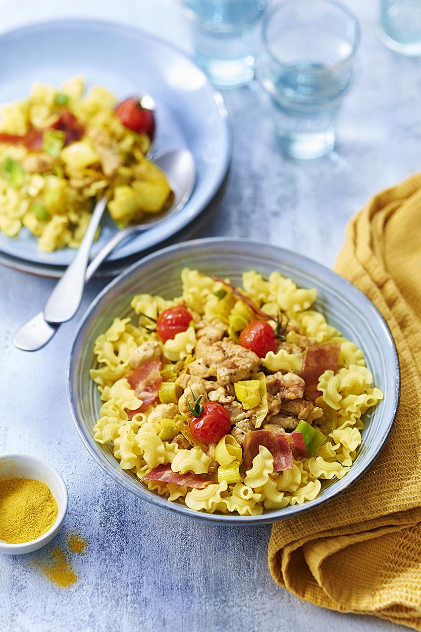 recette de Curry de Coquillettes royales au poulet