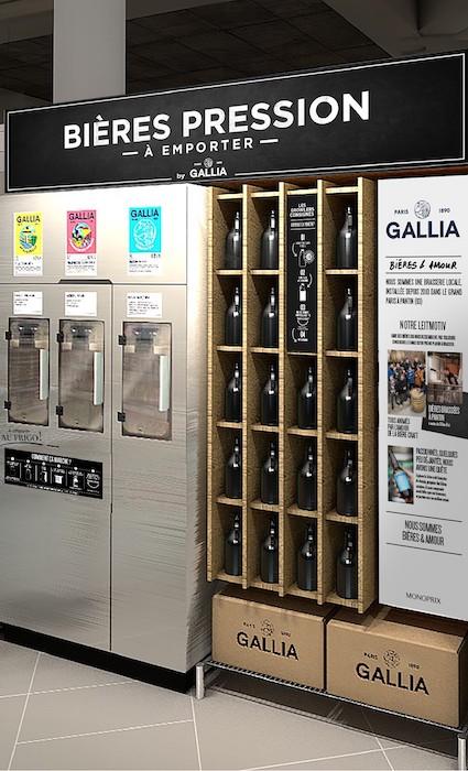 dispositif bière vrac Gallia Heineken