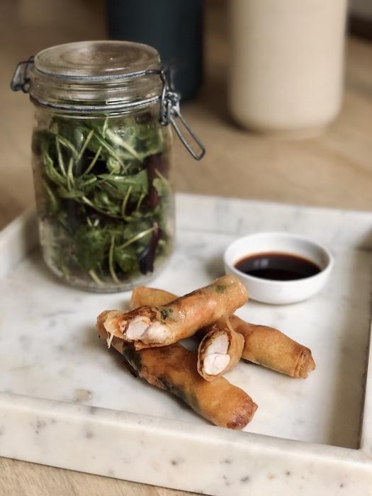 recette de Nems de lapin à la sauce soja