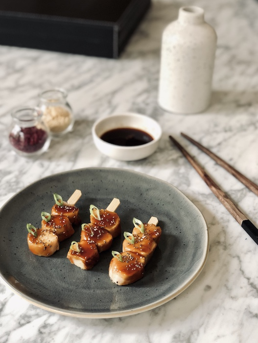 recette de Brochettes de lapin sauce teriyaki