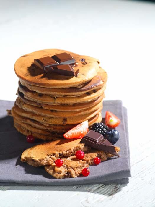 recette de Pancakes aux pépites de chocolat