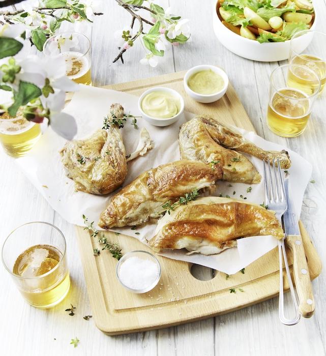 recette de Poulet grillé mariné au cidre