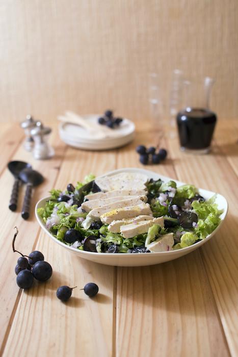 recette de Salade de blancs de poulet au raisin