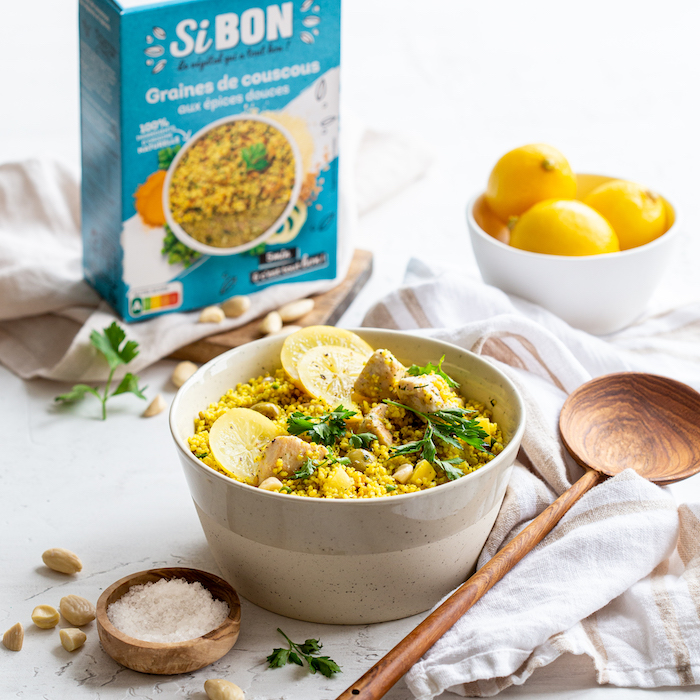 recette de Salade de couscous au citron confit