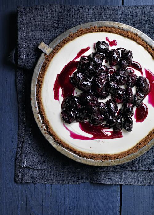recette de Tarte au yaourt et compotée de raisin