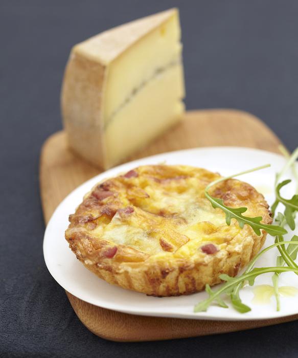 recette de Tartelettes au morbier et au jambon de montagne