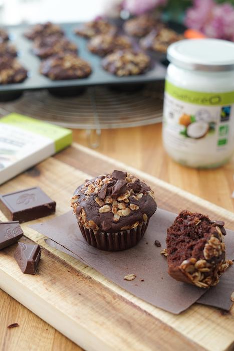 recette de Muffins chocolat-coco