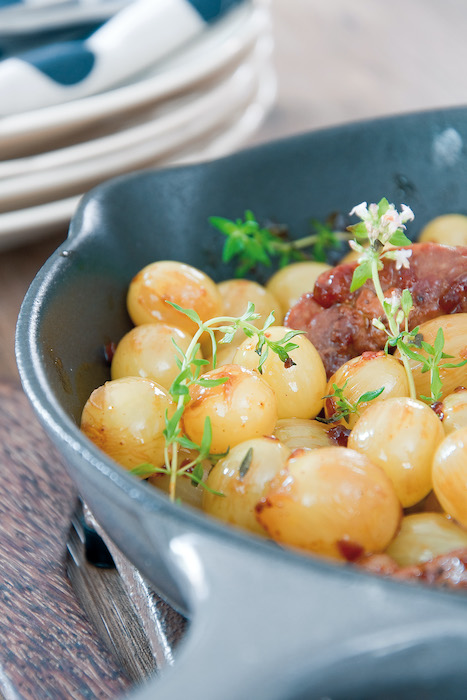 recette de Poêlée de raisin au canard