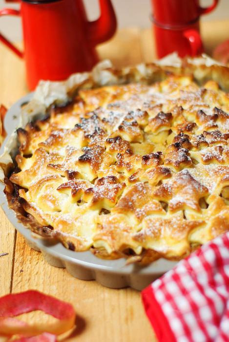 recette de Tourte aux pommes Reine des Reinettes