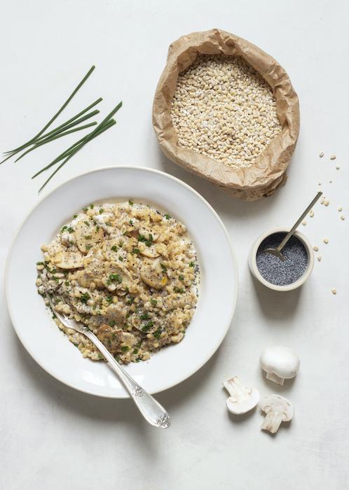 recette de Risotto d'orge perlé aux champignons