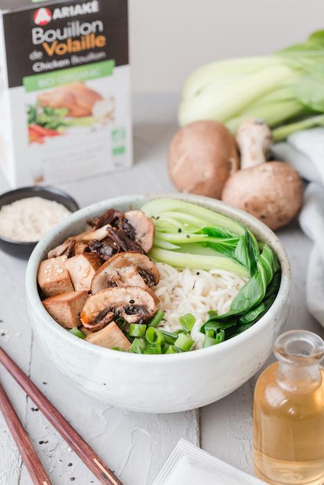 recette de Ramen au tofu mariné