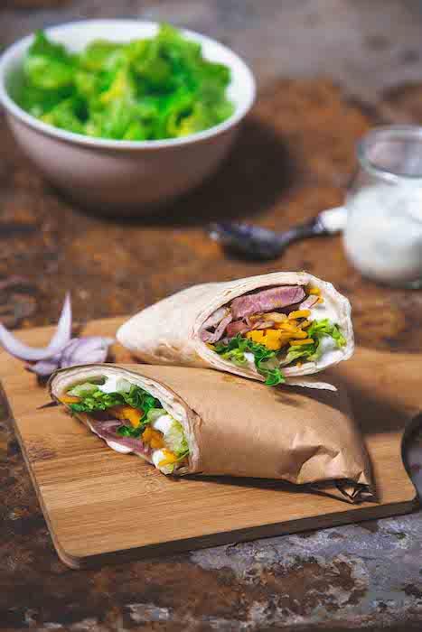 recette de Wraps d'agneau aux légumes croquants