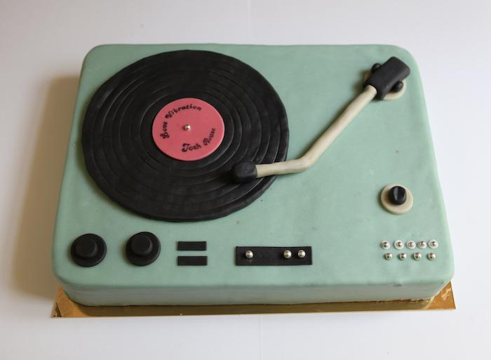 Gâteau Platine Vinyle