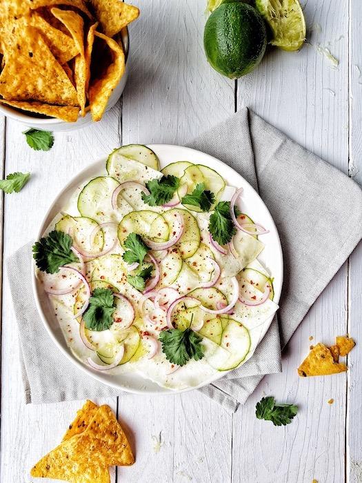 recette de Ceviche de céleri-rave et concombre