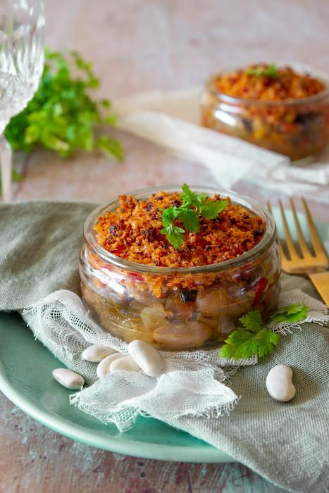 recette de Crumble de Haricots Tarbais au chorizo