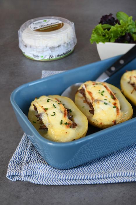 recette de Pommes de terre farcies au canard