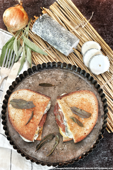 recette de Grilled cheese au chèvre