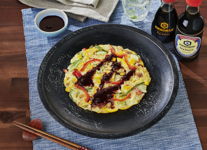recette de Crêpes japonaises végétariennes