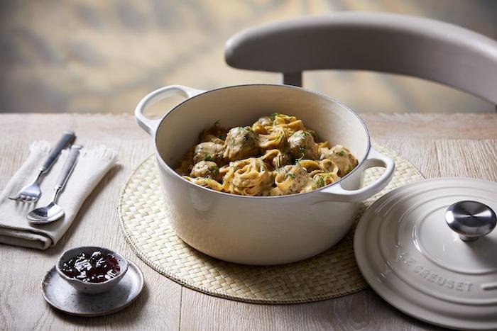 recette de Boulettes de viande scandinaves et tagliatelles