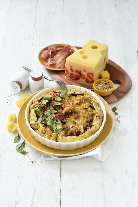 recette de Tarte rustique à l'Emmental de Savoie