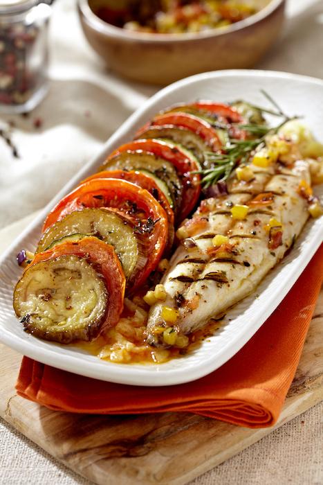 recette de Tian provençal aux filets de maquereaux