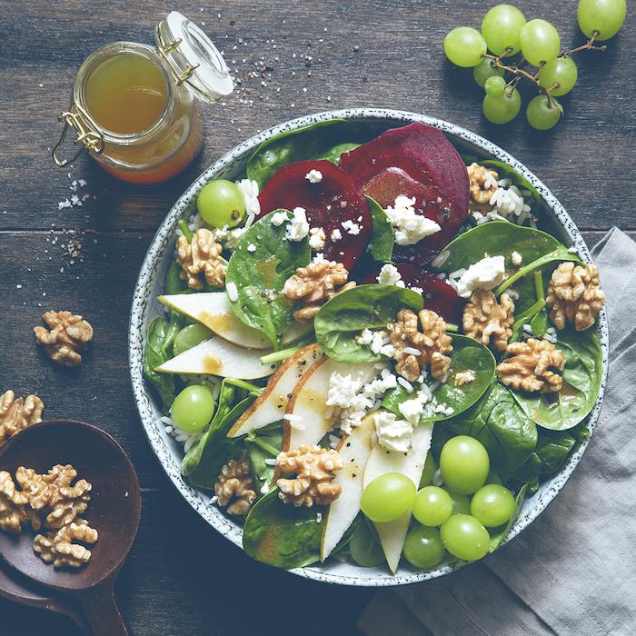 recette de Salade composée aux cerneaux de noix