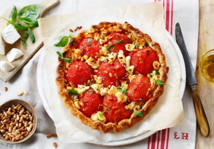 recette de Tarte feuilletée chèvre et tomates