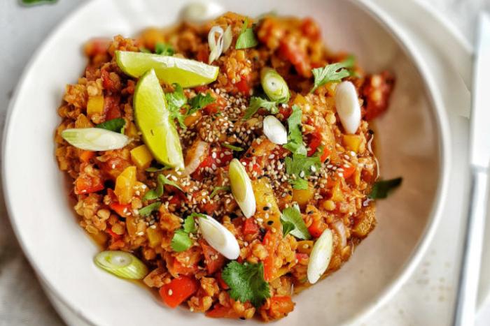 Curry de lentilles corail épicé