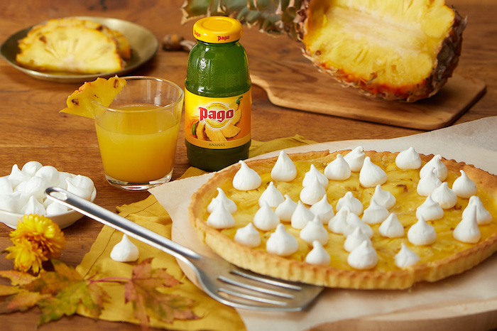 recette de Tarte meringuée à l'ananas rôti