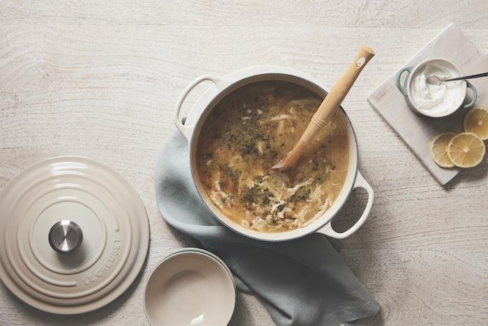 recette de Soupe grecque au poulet et au citron
