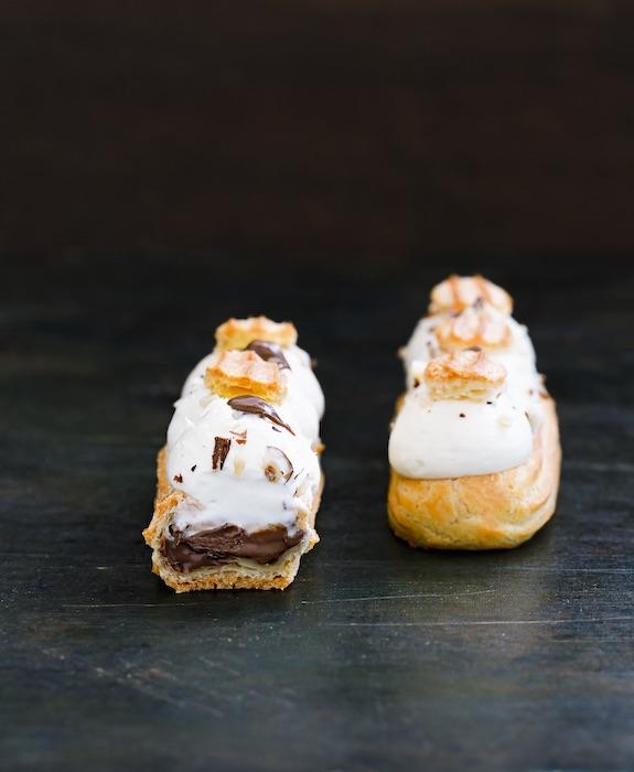 recette d'Eclairs praliné-vanille au Nutella