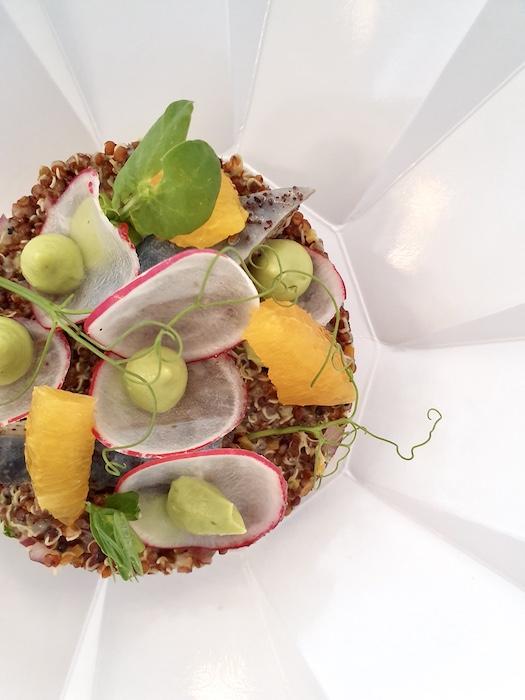 recette de Quinoa rouge et condiments acidulés