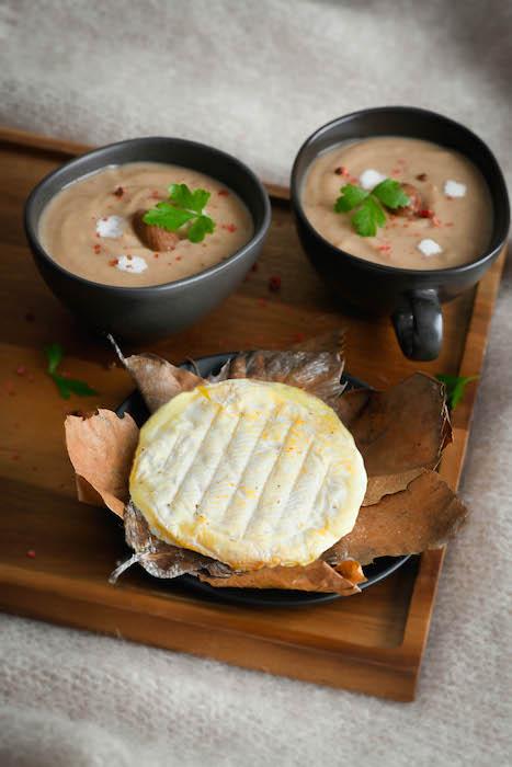 recette de Velouté de châtaignes au Banon AOP