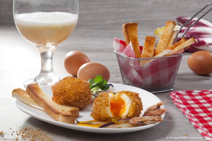 Oeufs mollets frits