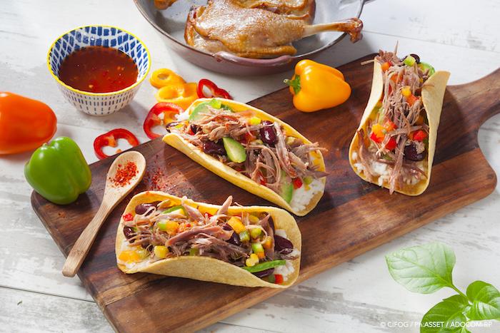 Tacos Tex Mex au confit