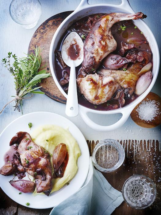 recette de Bourguignon de lapin