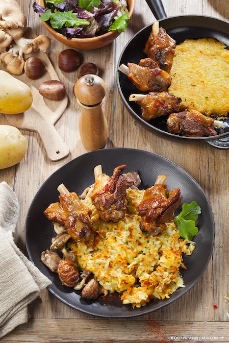 recette de Manchons de canard sur paillassons