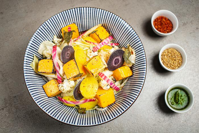Bio-bowl aux légumes d'hiver