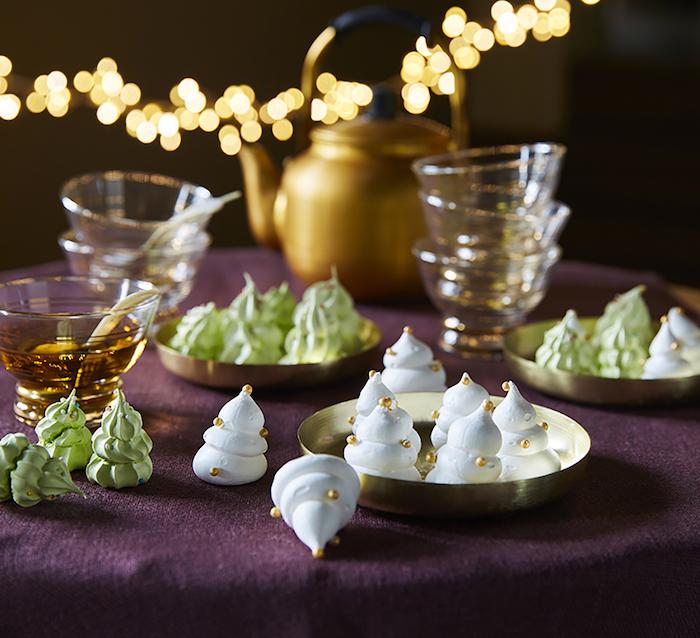 recette de Meringues sapins de Noël