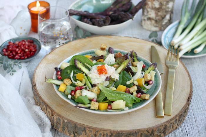 recette de Salade de crabe aux fruits exotiques