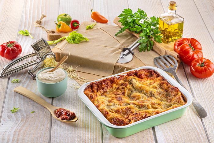 Lasagnes aux poivrons