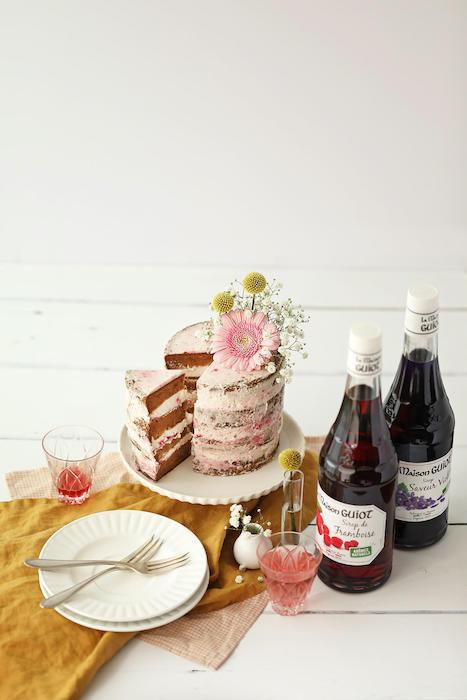 recette de Naked Cake au sirop