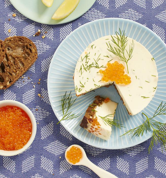 recette de Cheesecake aux oeufs de truite