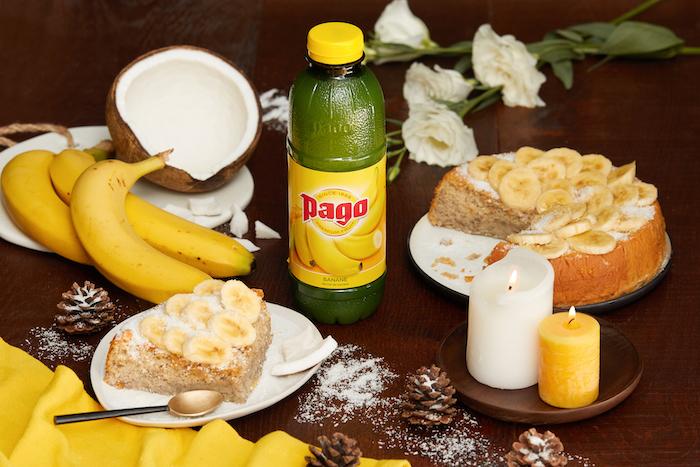 recette de Moelleux fondant banane coco