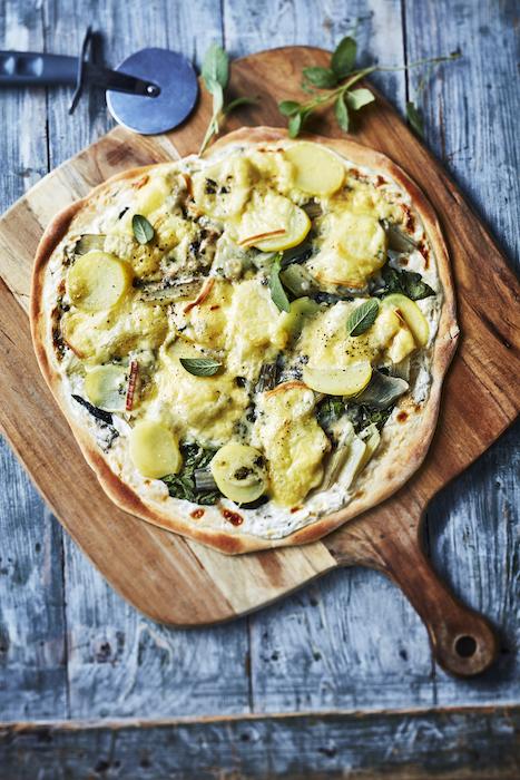 recette de Pizza aux pommes de terre